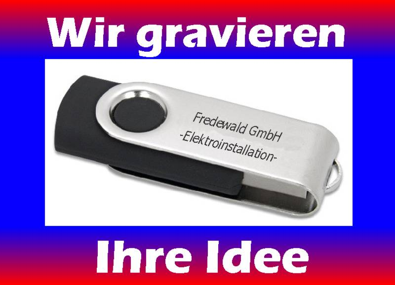 8gb usb stick swing 2 0 mit gravur ebay. Black Bedroom Furniture Sets. Home Design Ideas