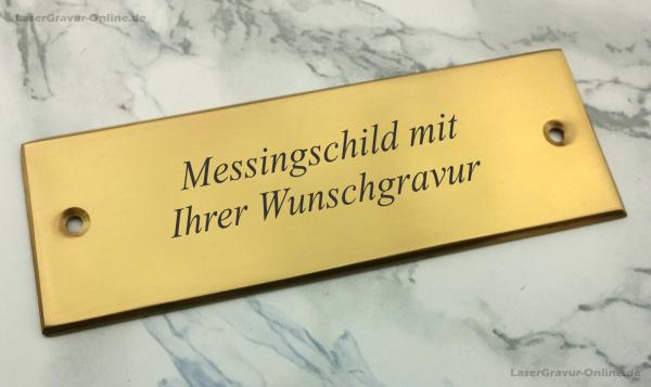 Messingschild-Türschild-graviert